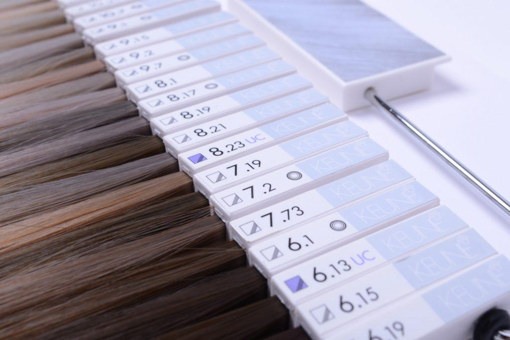 Keune kleurenkaart voor alle haarkleuren van keune kapsalon linds